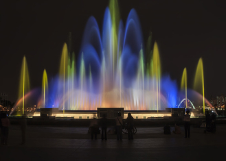China Digital Controlled Programmable Water Fountain With Lights CE/RoSH Certificated factory
