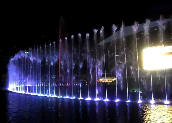 China Exterior Floating Music Dancing Fountain Construction In Lake Large Scale factory