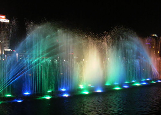 China Swing Type Music Dancing Fountain Multi - Vector Floating Computer Controlled factory