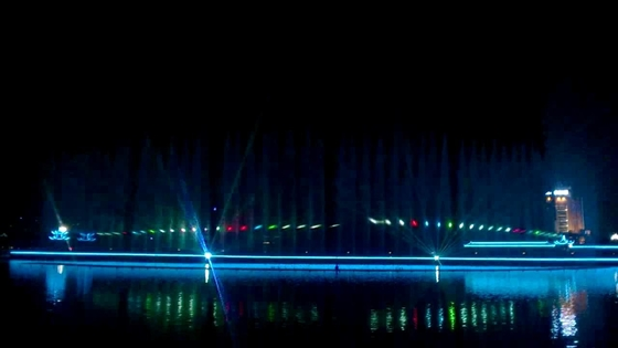 China Decorative Water Laser Show , Digital Laser Light Show System On Water Fountain factory