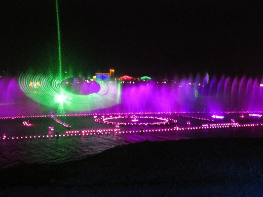 China Colorful RGB Outdoor Laser Light Show With Laser Water Screen Projector factory