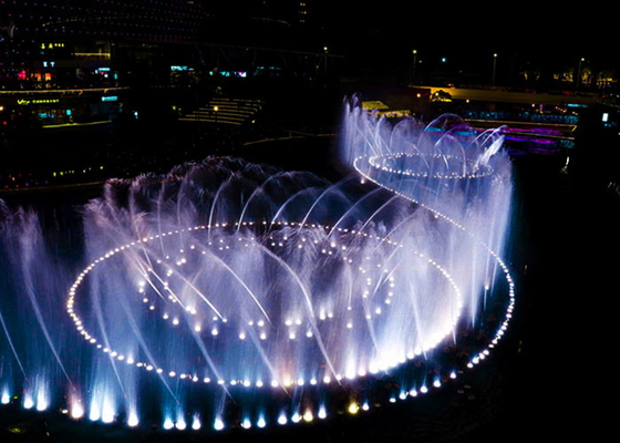 Large Outdoor Musical Fountain Modern Art , 3d  Water Fountain With Lights