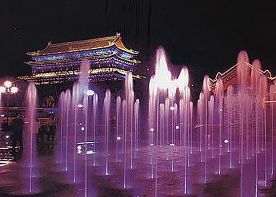 China Stainless Steel 304 Lighted Water Fountains / Modern Floor Fountain CE Approval factory