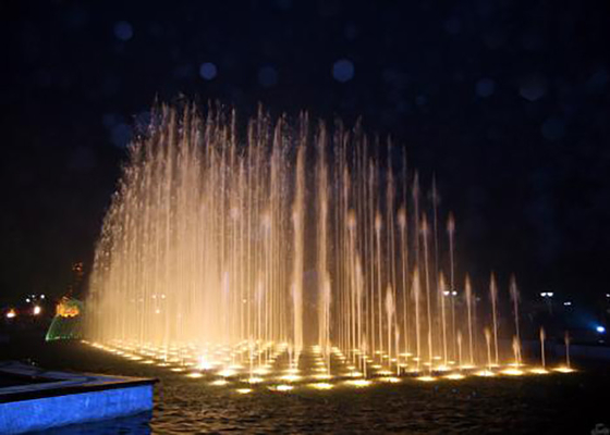 China Artificial  Beautiful Floor Water Fountains Dancing Water Show For Park factory