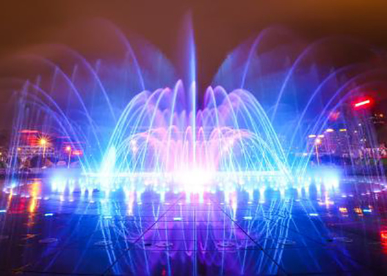 China Plazza Floor Water Fountains For Dry Deck With Led Underwater Lights factory