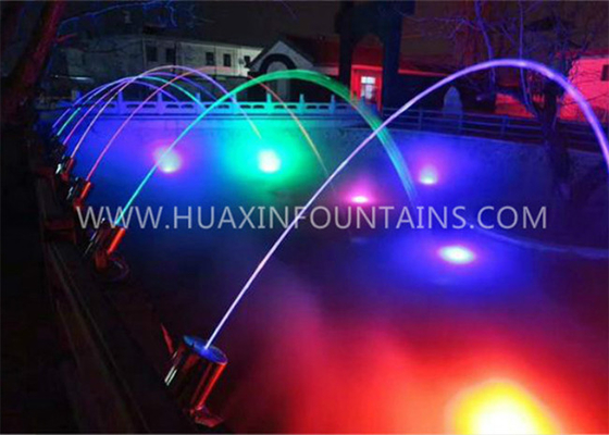 China Exterior Glistening Laminar Flow Water Fountain With Stainless Steel Jumping Jets factory