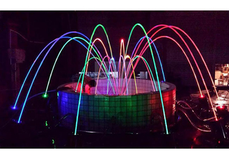 China Water Park Dancing Laminar Jet Fountain With RGB Led Light CE/RoSH Certificated factory