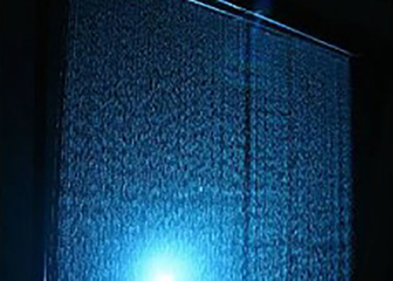 Computer Controlled Digital Water Curtain Fountain With Lights Modern Design