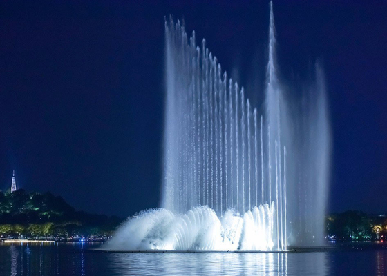 China Big Led Water Fountain Outdoor Magic Water Fountain Thailand PC Control System factory