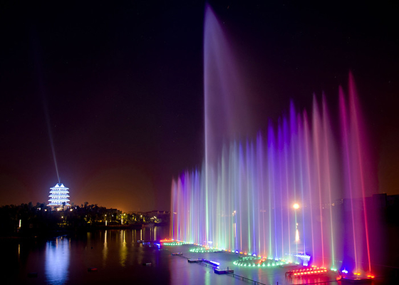Color Change Outside Musical Water Fountain Stainless Steel Dancing Fountain On The Sea