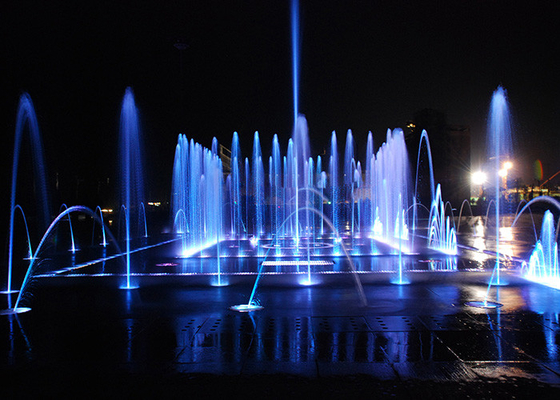 China Dry Floor Water Fountains Dancing Musical Fountain With LED Lights On Ground factory