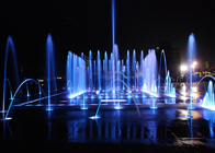Dry Floor Water Fountains Dancing Musical Fountain With LED Lights On Ground supplier