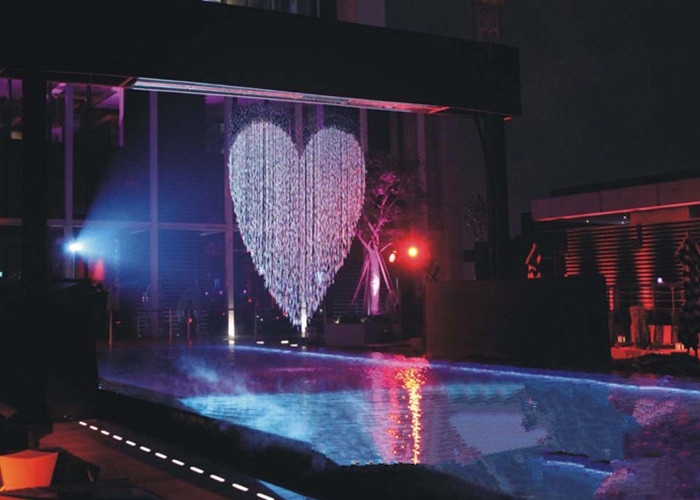 Musical Artificial Waterfall Water Fountain , Indoor Water Curtain Fountain supplier